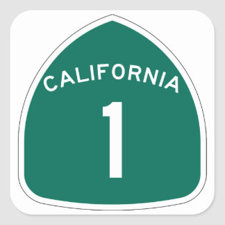 California 1 square sticker
