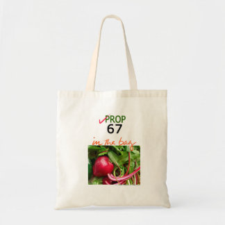 California 2016 PROP 67 RED VEG TOTE