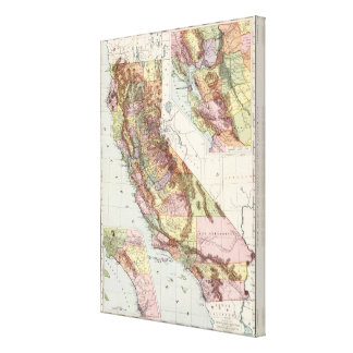 California 2 stretched canvas prints