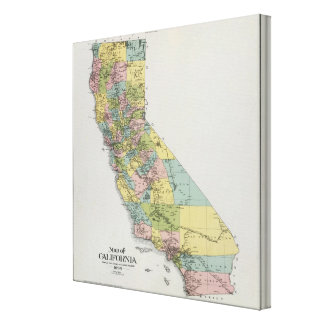 California 3 stretched canvas print