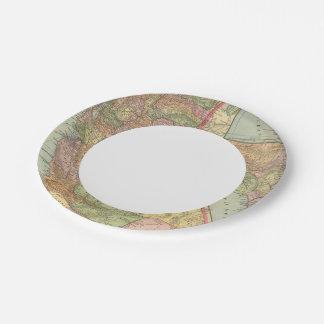 California 3 paper plate