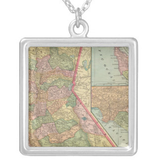 California 3 silver plated necklace