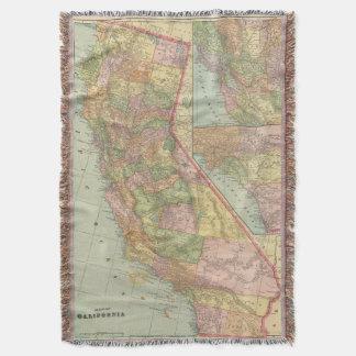 California 3 throw blanket
