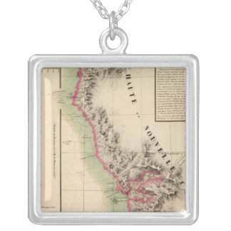 California 46 silver plated necklace