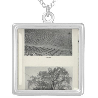 California 4 silver plated necklace