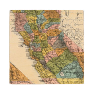 California 4 wood coaster