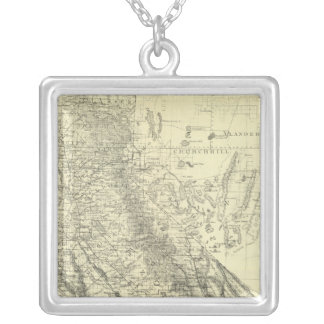 California 5 silver plated necklace
