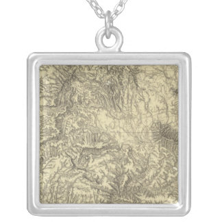 California 6 silver plated necklace