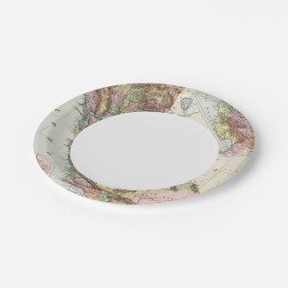 California 8 paper plate
