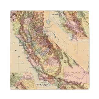 California 8 wood coaster