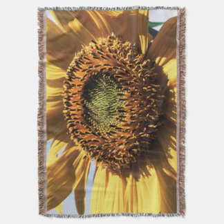 California, A Mammoth Sunflower (Helianthus) 1 Throw Blanket