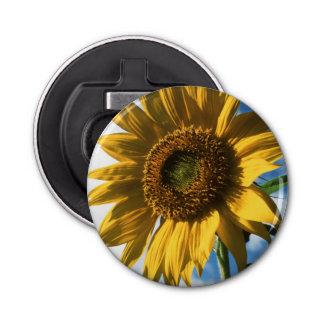 California, A Mammoth Sunflower (Helianthus) 2 Bottle Opener