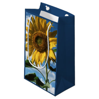 California, A Mammoth Sunflower (Helianthus) 2 Small Gift Bag