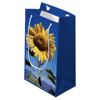 California, A Mammoth Sunflower (Helianthus) 3 Small Gift Bag