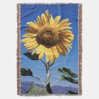 California, A Mammoth Sunflower (Helianthus) 3 Throw Blanket