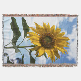 California, A Mammoth Sunflower (Helianthus) 4 Throw Blanket