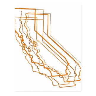 california amber blur postcard