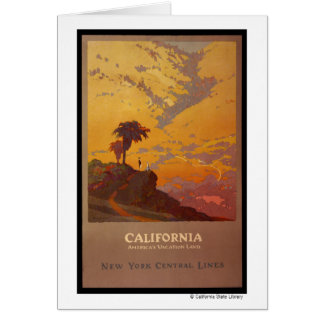 California. America's Vacation Land Card