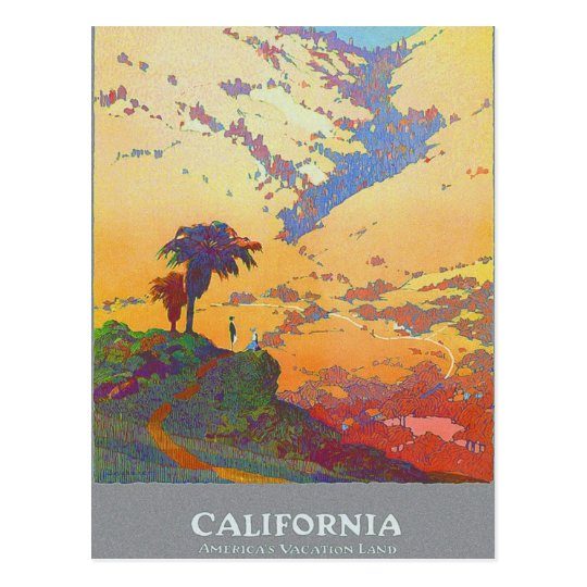California America's Vacation Land Postcard