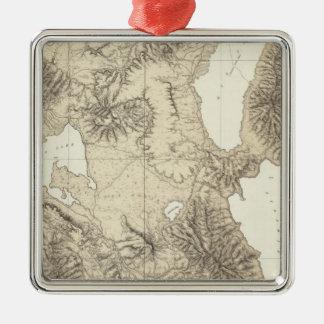 California and Nevada 10 Silver-Colored Square Decoration