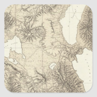 California and Nevada 10 Square Sticker