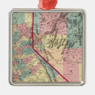 California and Nevada 2 Christmas Ornament