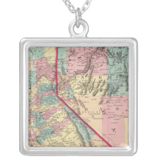 California and Nevada 2 Silver Plated Necklace