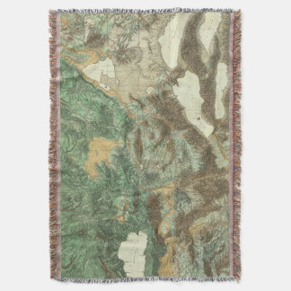 California and Nevada 2 Throw Blanket