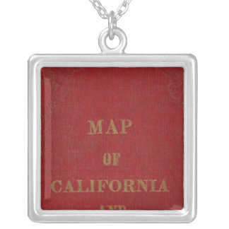 California and Nevada 3 Silver Plated Necklace