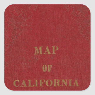 California and Nevada 3 Square Sticker