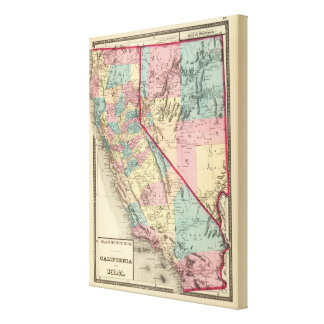 California and Nevada 4 Gallery Wrap Canvas