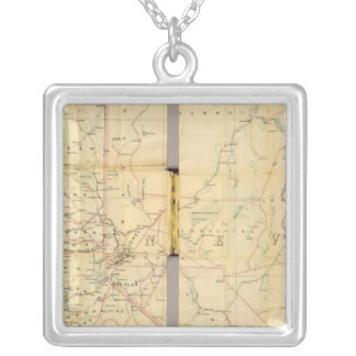 California and Nevada 6 Silver Plated Necklace