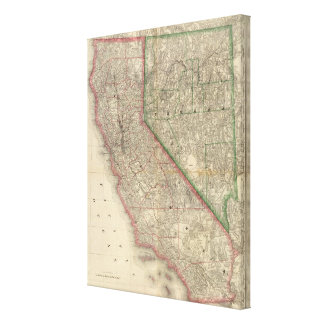 California and Nevada Canvas Prints