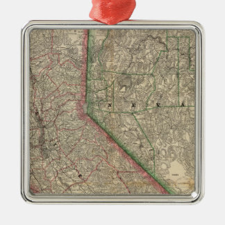 California and Nevada Christmas Ornament