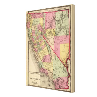 California and Nevada Gallery Wrap Canvas