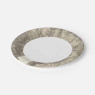 California and Nevada Paper Plate