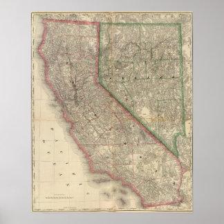 California and Nevada Poster