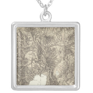 California and Nevada Silver Plated Necklace