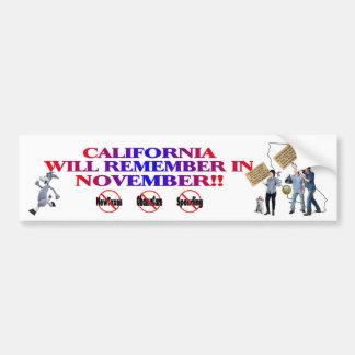 California - Anti ObamaCare, New Taxes & Spending Bumper Sticker