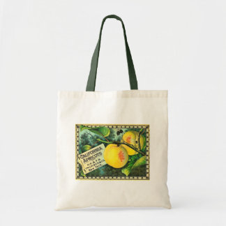 California Apricots - Vintage Crate Label Budget Tote Bag