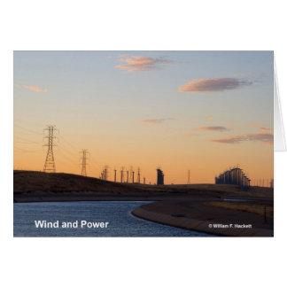 California Aqueduct Windmills Altamont Products Greeting Card