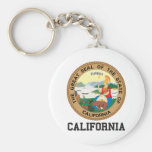 California Basic Round Button Key Ring