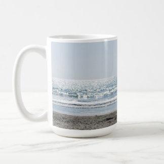 California Beach - Beautiful Ocean Basic White Mug