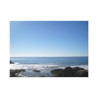 California Beach Stretched Canvas Prints
