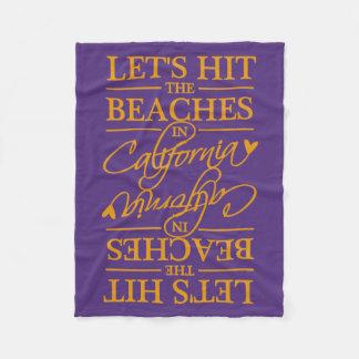 CALIFORNIA BEACHES custom color fleece blankets