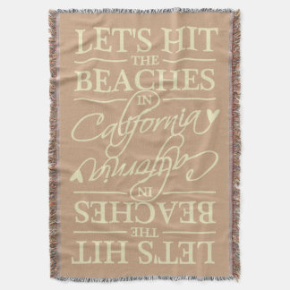 CALIFORNIA BEACHES custom color throw blanket