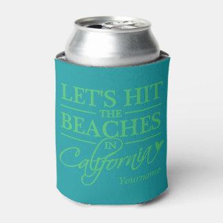 CALIFORNIA BEACHES custom name & color can cooler