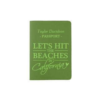 CALIFORNIA BEACHES custom passport cover