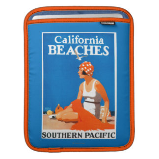 California Beaches Promotional Poster iPad Sleeve