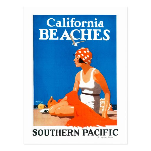 California Beaches Promotional Poster Postcards